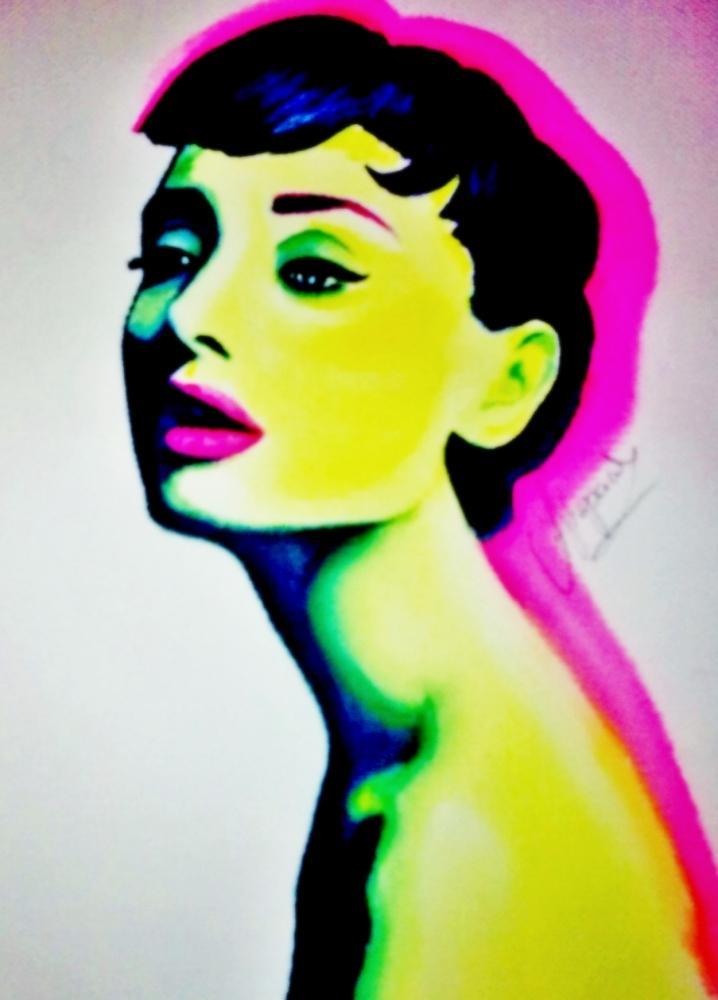 Audrey Hepburn par Eshka